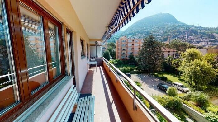 Helle Ferienwohnung am Fusse des Monte Bré in Lugano (TI)